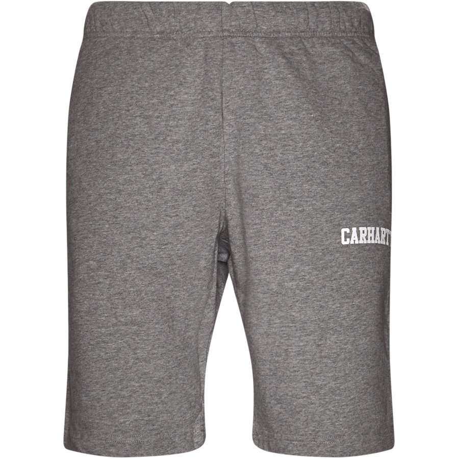 COLLEGE SWEAT SHORT I024673 - College Sweat Shorts - Shorts - Regular - GREY HTR/WHITE - 1
